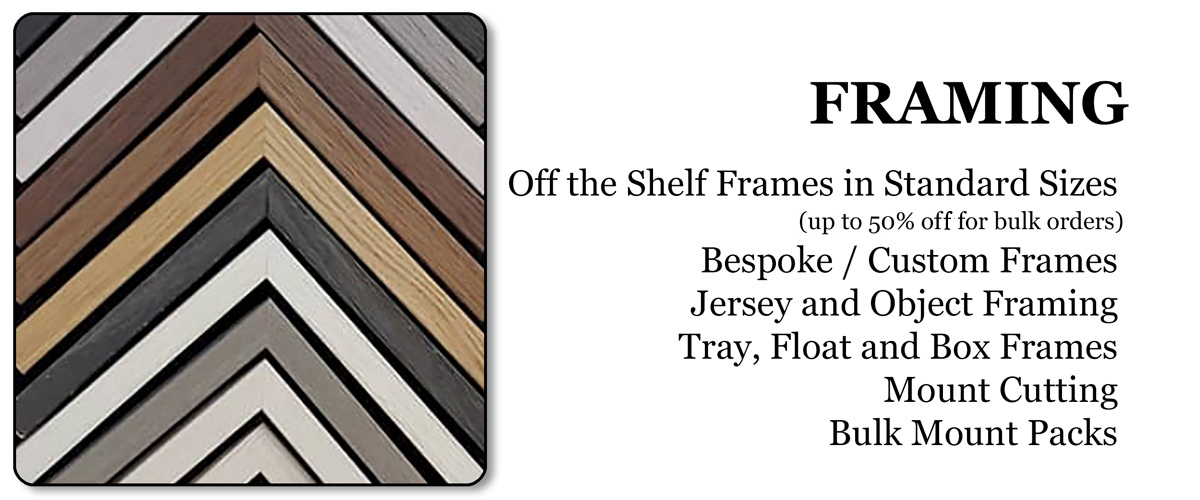 Picture Framing - Off the shelf and bespoke service