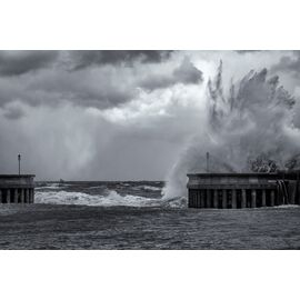 Stormy Waves at Greystones Harbour