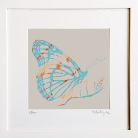 ​Blue Butterfly - Limited edition fine art print​ - Hairy Fruit Art