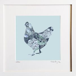 ​Blue Hen - Limited edition fine art print​ - Hairy Fruit Art