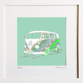 VW Campervan - Limited edition fine art print​ - Hairy Fruit Art