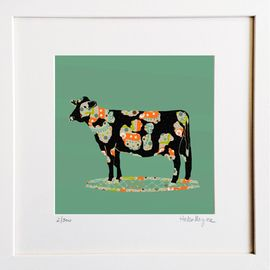 Cow- Limited edition fine art print​ - Hairy Fruit Art