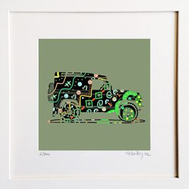 Defender - Limited edition fine art print​ - Hairy Fruit Art