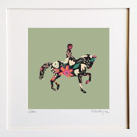 Dressage Horse - Limited edition fine art print​ - Hairy Fruit Art
