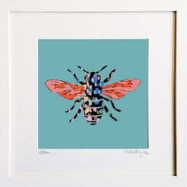 Honey Bee - Limited edition fine art print​ - Hairy Fruit Art