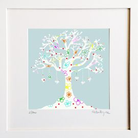 Love Tree - Limited edition fine art print​ - Hairy Fruit Art
