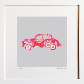 Morris Minor - Limited edition fine art print​ - Hairy Fruit Art