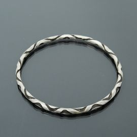 Sterling Silver Reverse Twist Bangle