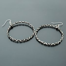 Sterling Silver Reverse Twist Earrings
