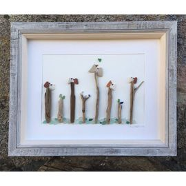​​Seabirds on Driftwood Posts