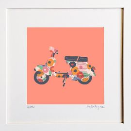 Vespa - Limited edition fine art print​ - Hairy Fruit Art