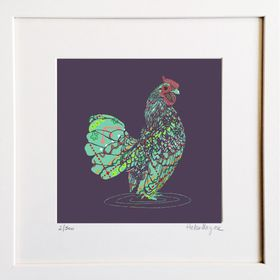 Rooster - Limited edition fine art print - Hairy Fruit Art